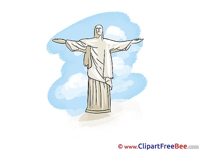Rio de Janeiro Statue of Christ download Clip Art for free