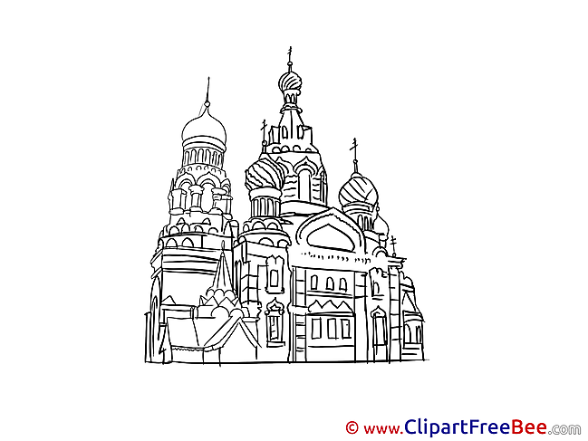 St. Basil's Cathedral Moscow Pics download Illustration
