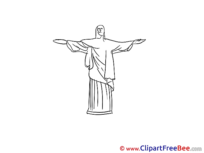 Statue of Christ Rio de Janeiro free printable Cliparts and Images