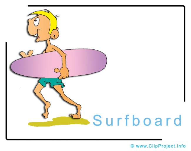 Surfboard Clipart Image free - Travel Clipart free