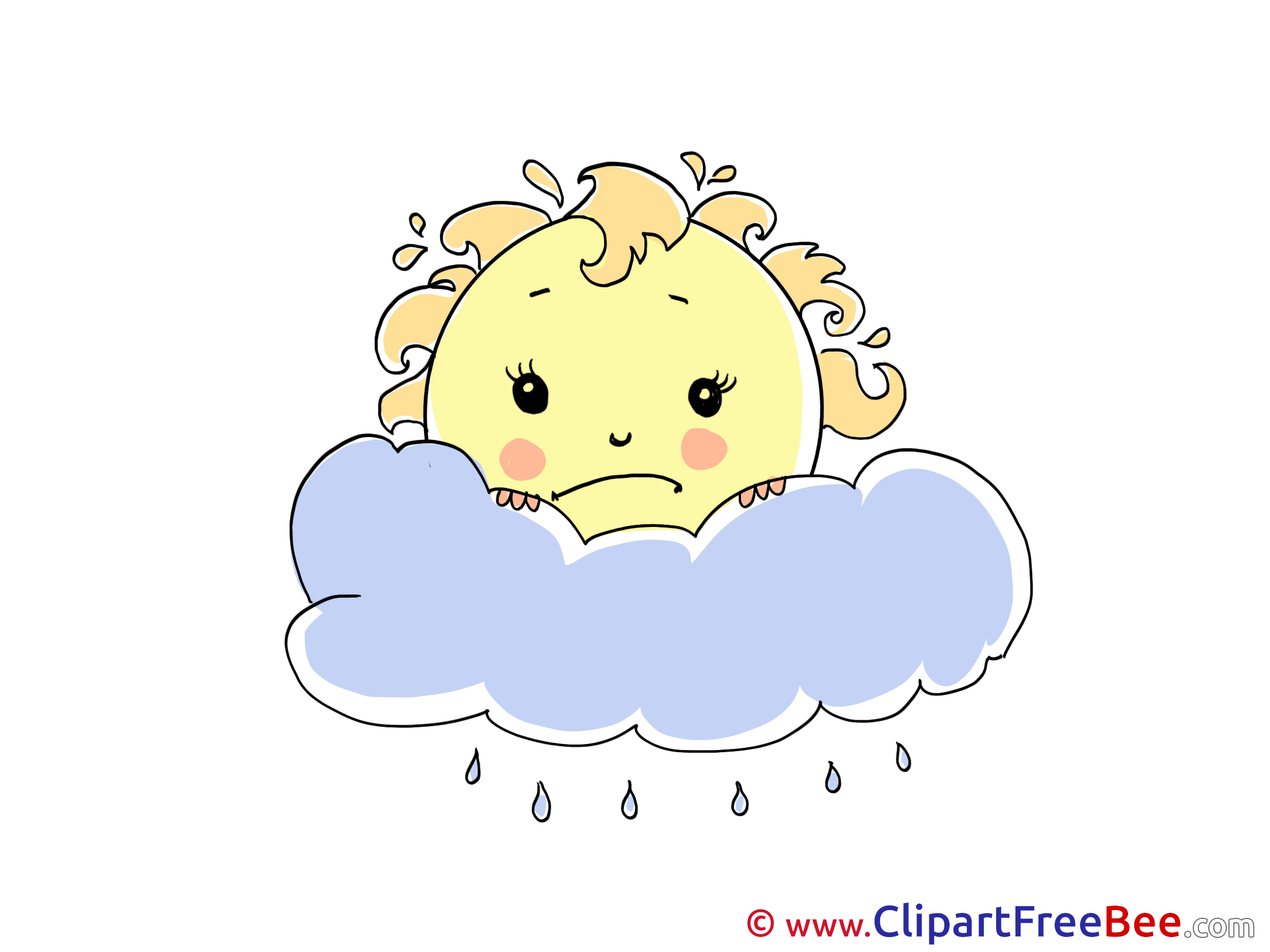 Frowning Sun Rain Pics download Illustration
