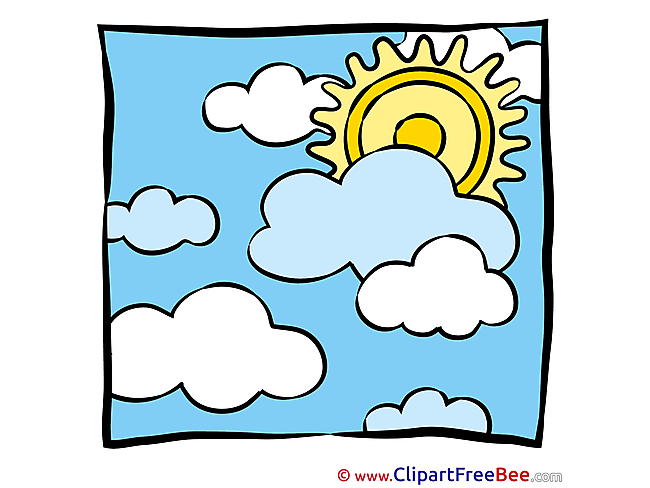 Heat Sun Clouds Clipart free Image download