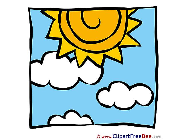 Heat Sun Sky Clipart free Illustrations