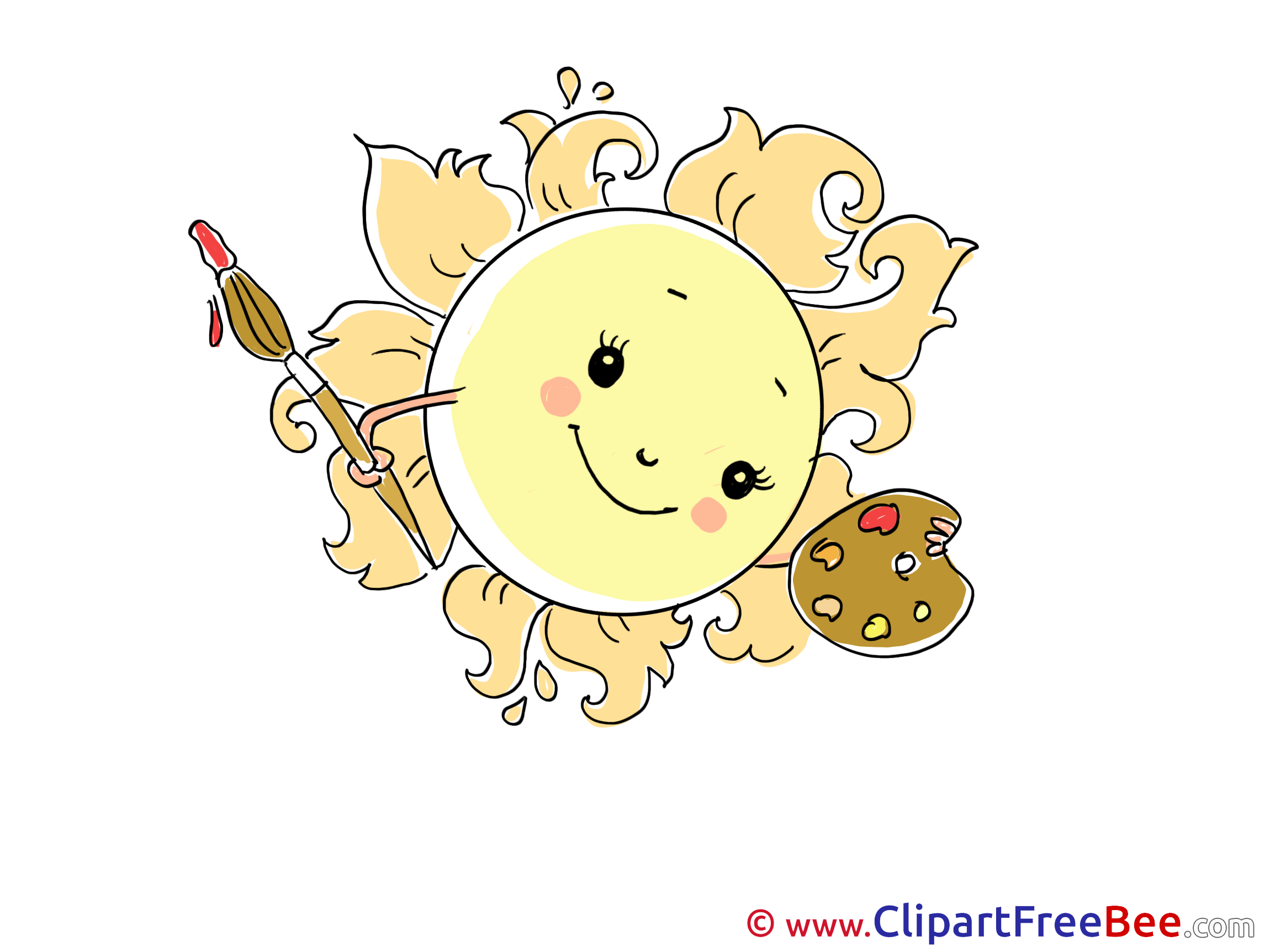 Painter Sun download printable Illustrations