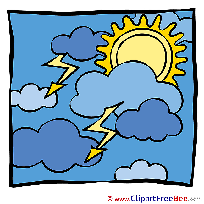 Picture Clouds Sun printable Illustrations for free