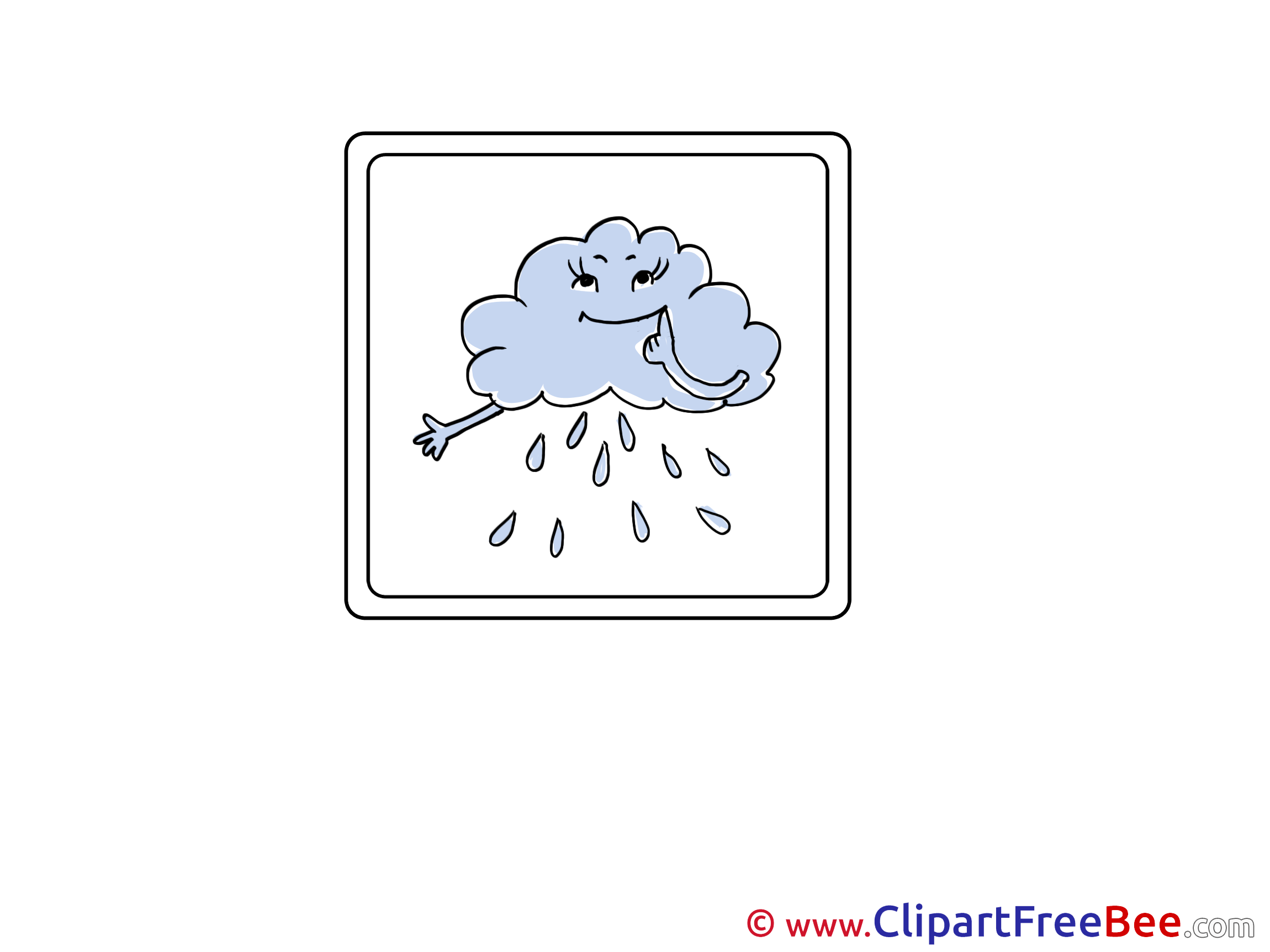 Rain Cloud Clip Art download for free