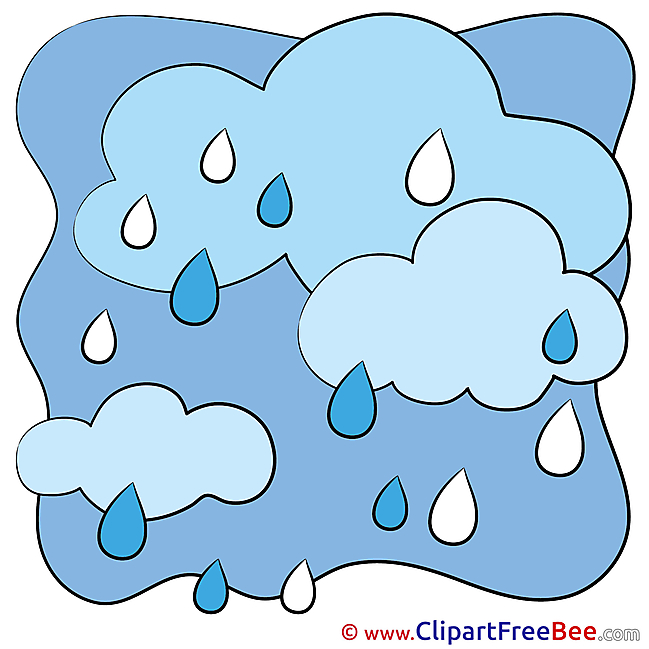 Sky Rain Weather Clipart free Illustrations