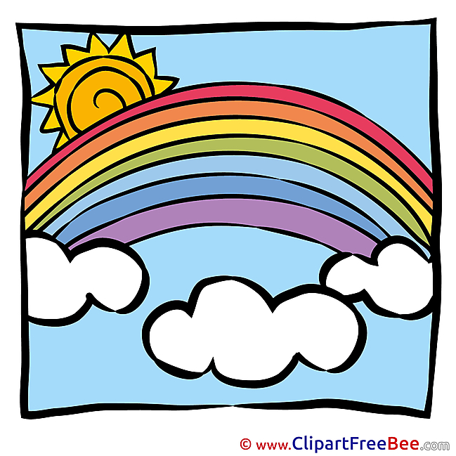 Spring Sun Rainbow Clip Art download for free