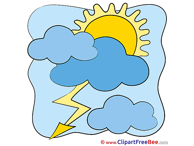 Thunder Lightning Sun Clipart free Illustrations