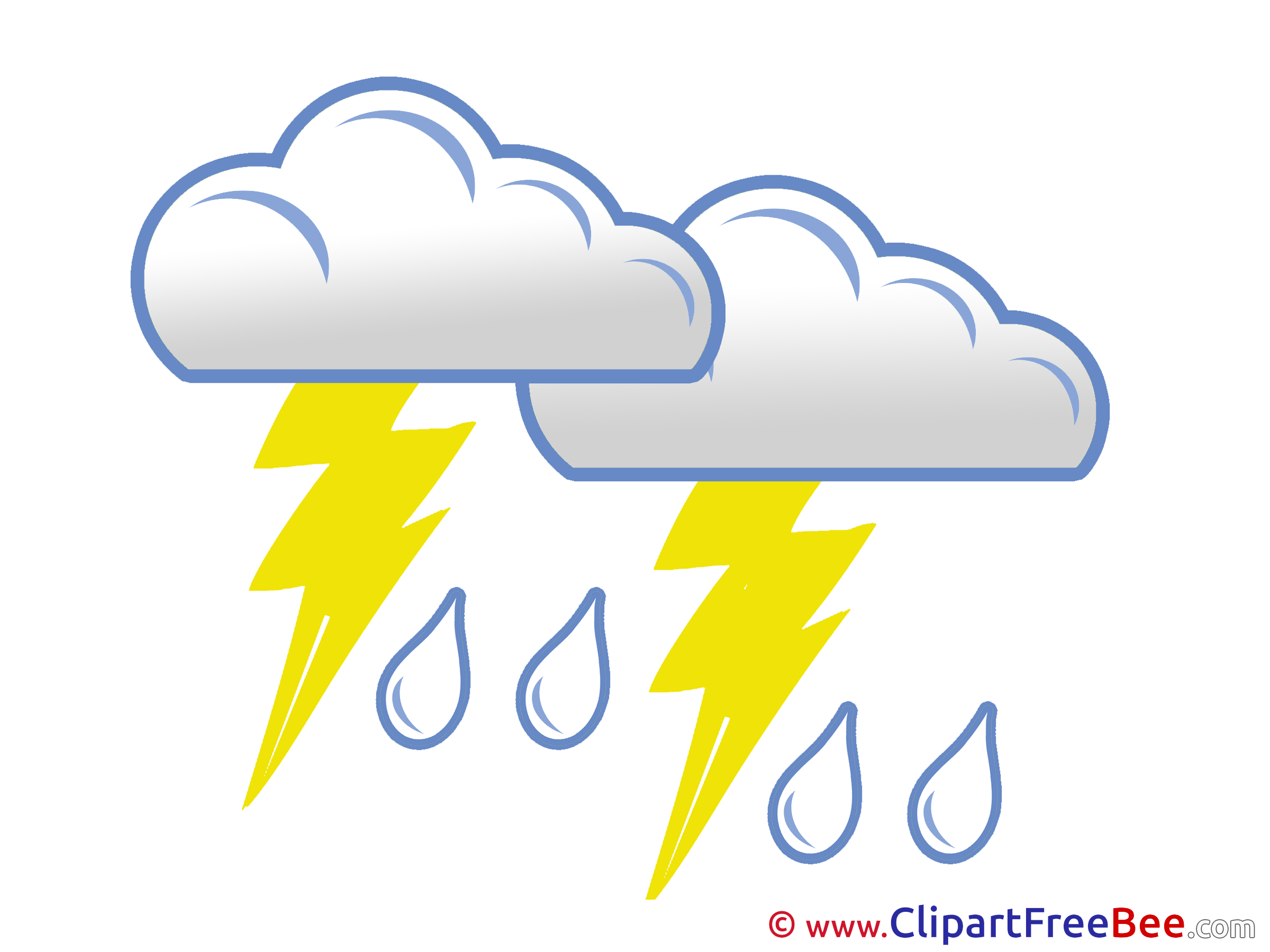 Thunderstorm Weather Clipart free Illustrations