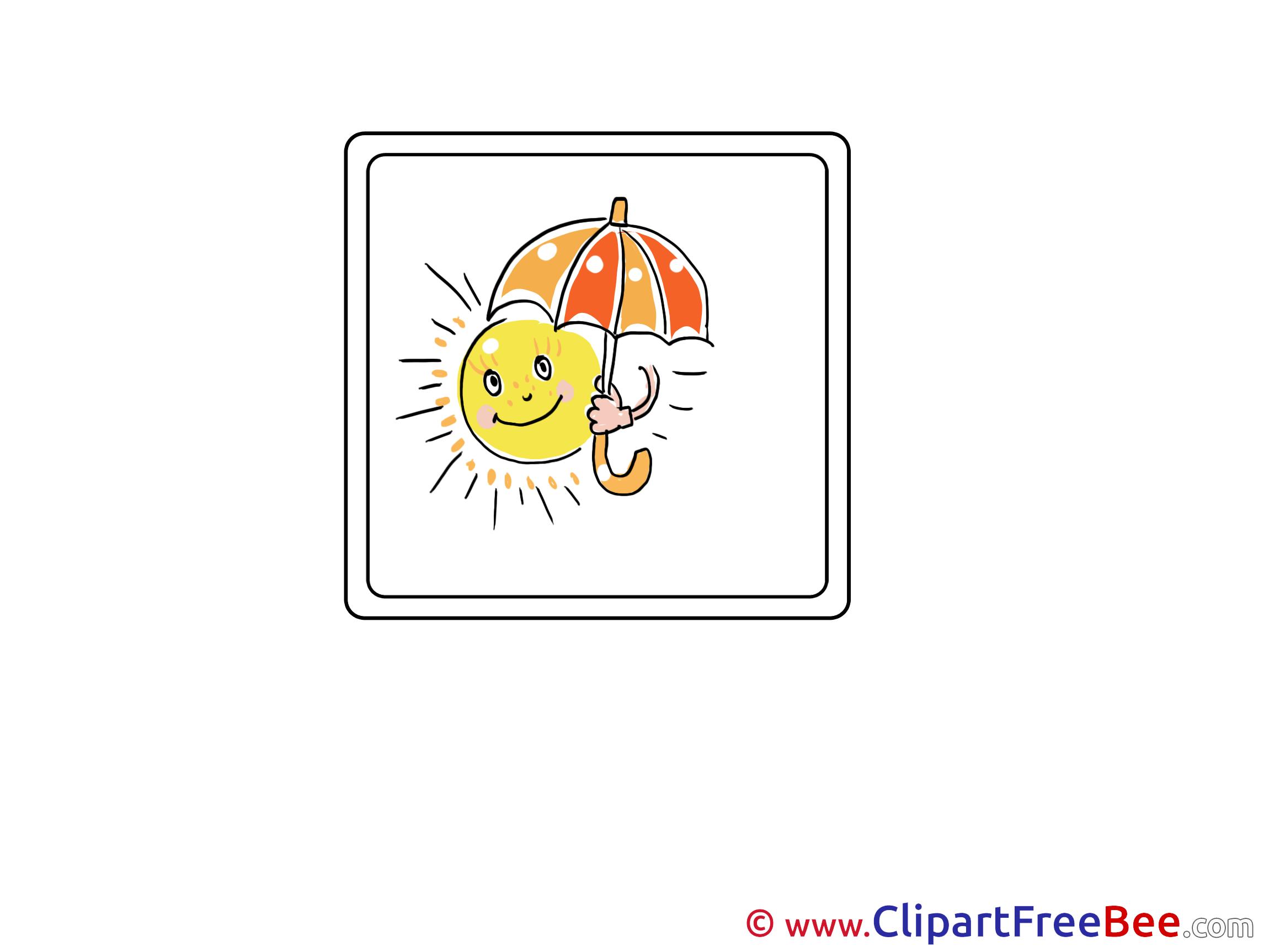 Umbrella Sun Cliparts printable for free