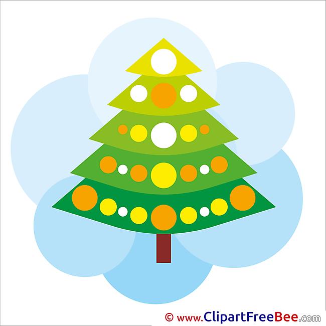 Christmas Tree Pics Winter Illustration