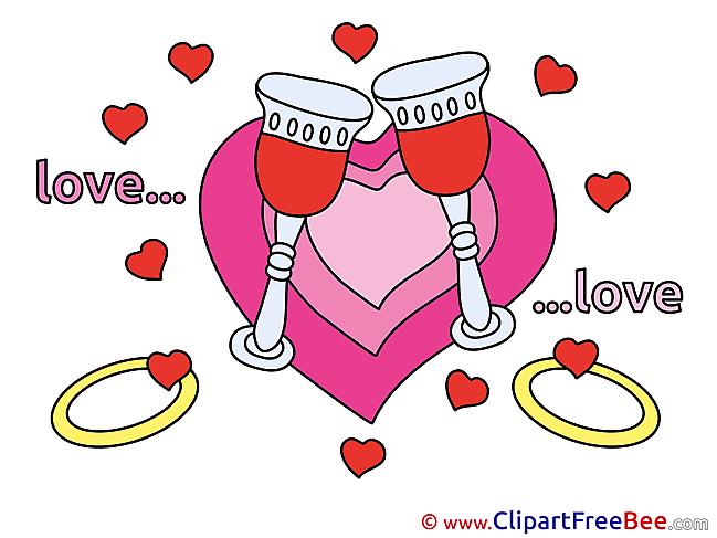 Heart Glasses Champagne download Illustration
