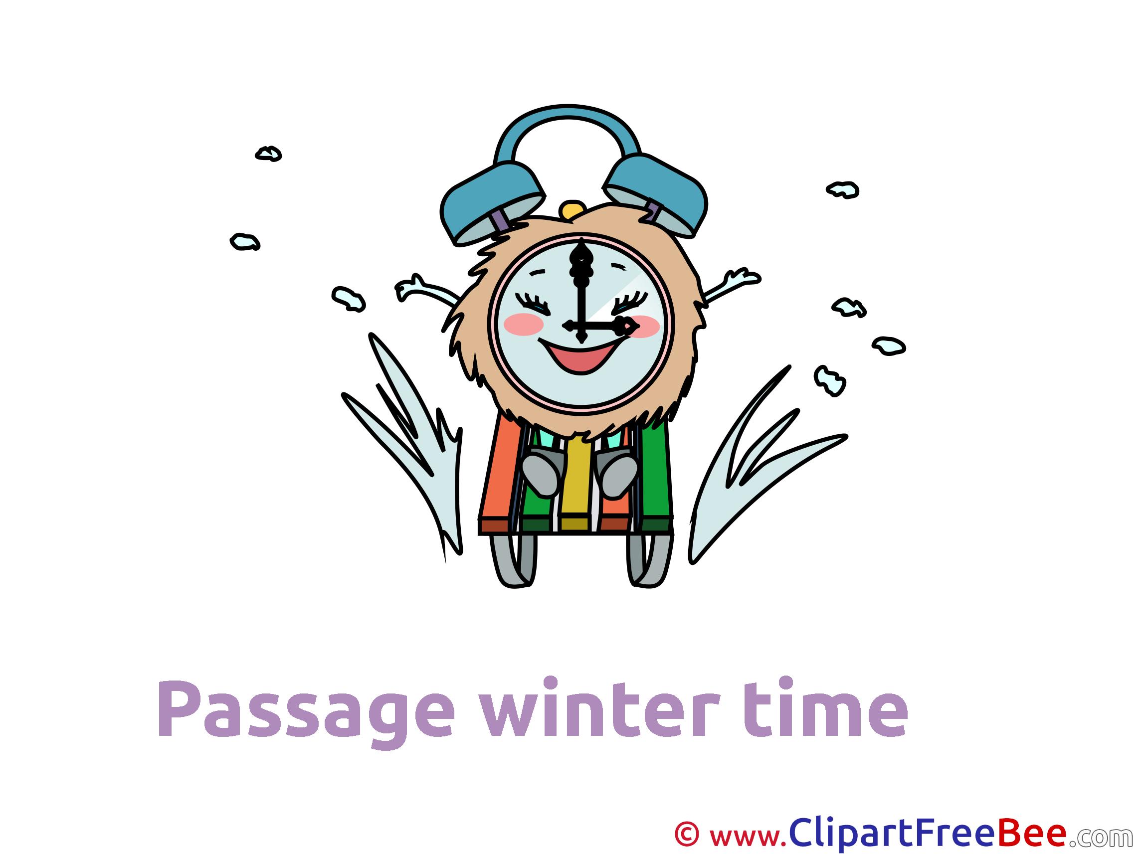 Sledge Clock free Cliparts Winter
