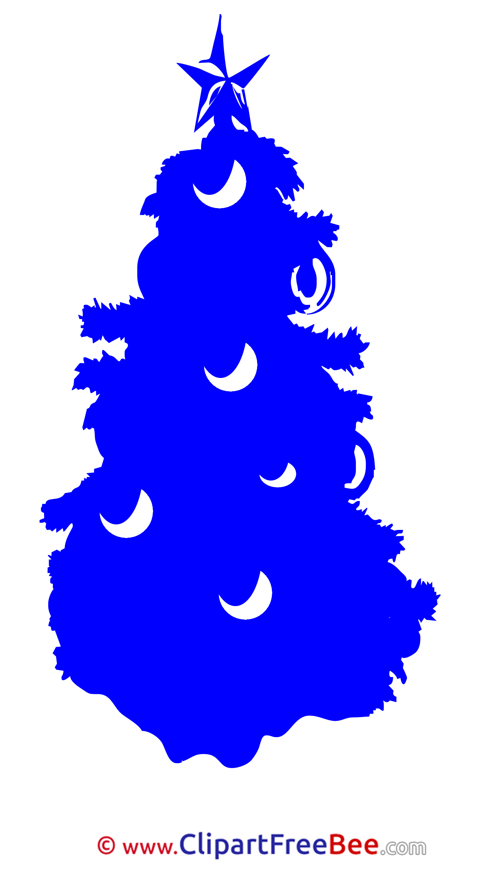 Tree Christmas Clipart Winter Illustrations