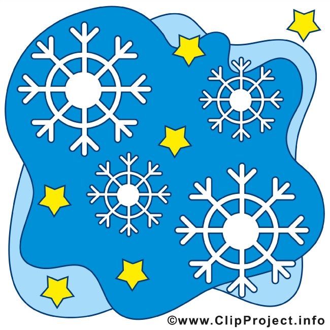 White Snowflakes in blue Sky Clipart gratis