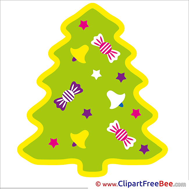 Winter Christmas Tree Clip Art for free