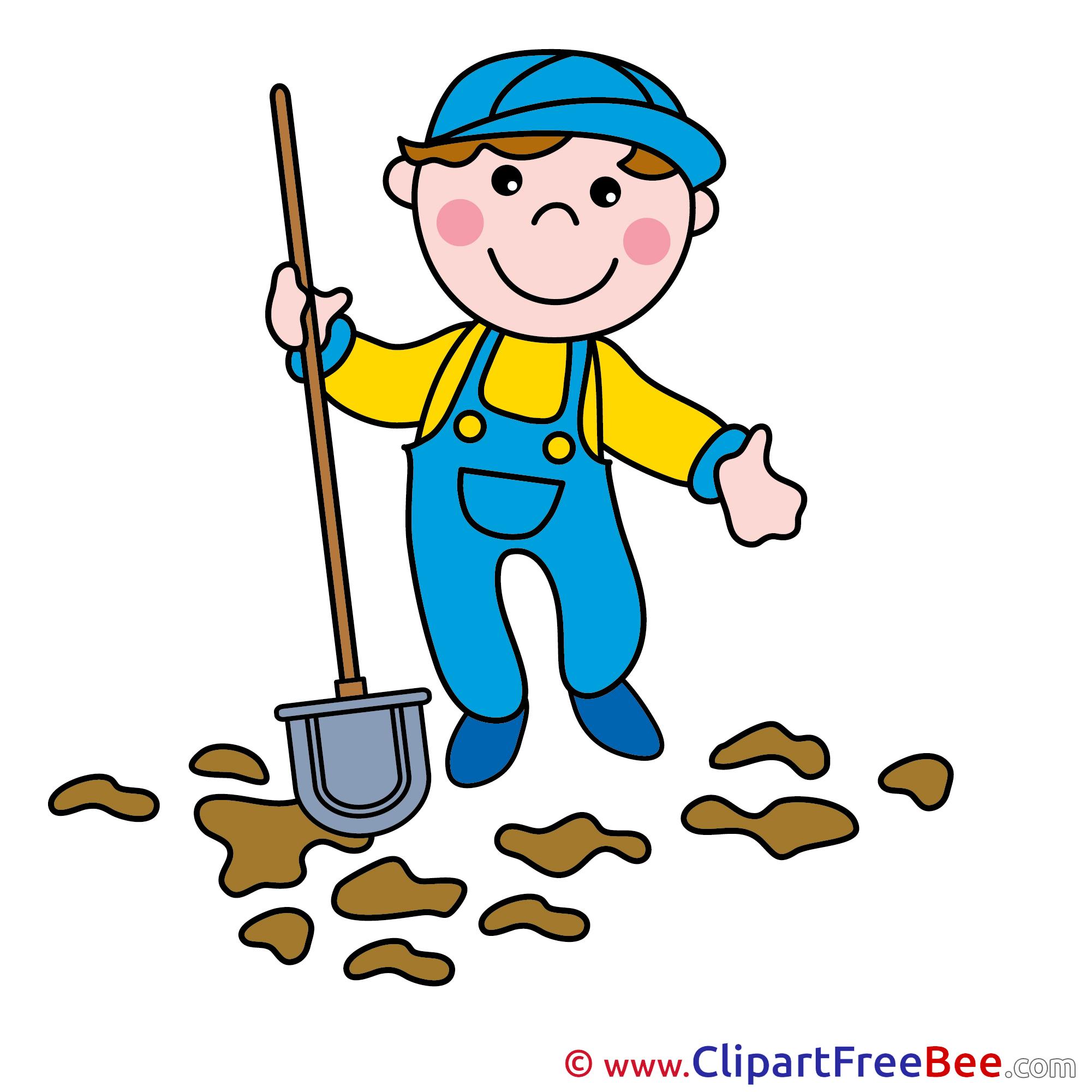 gardener shovel clip art for free