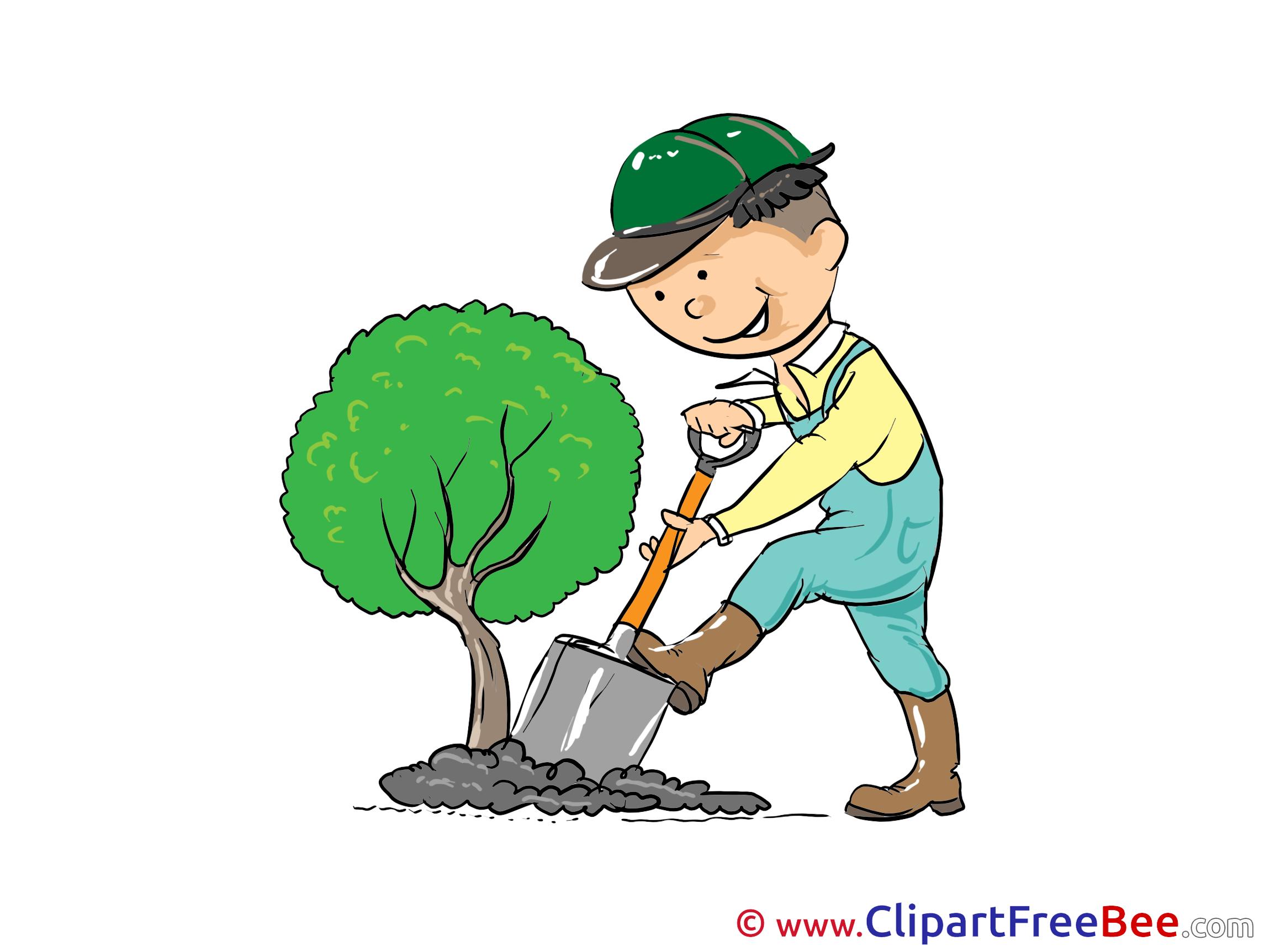 gardener tree clip art for free