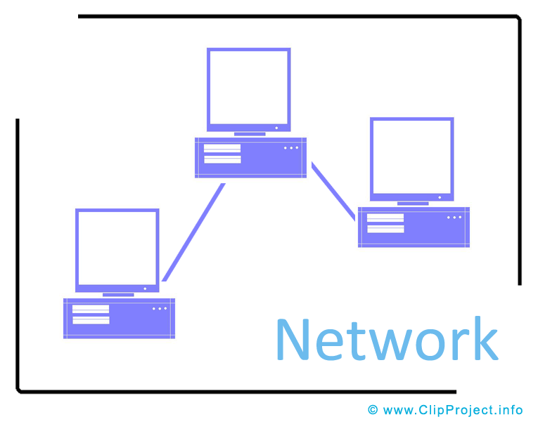 Computer Network Clipart Image - 44.4KB
