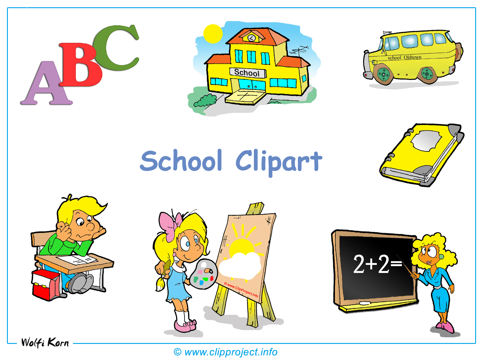 clipart school background - photo #47