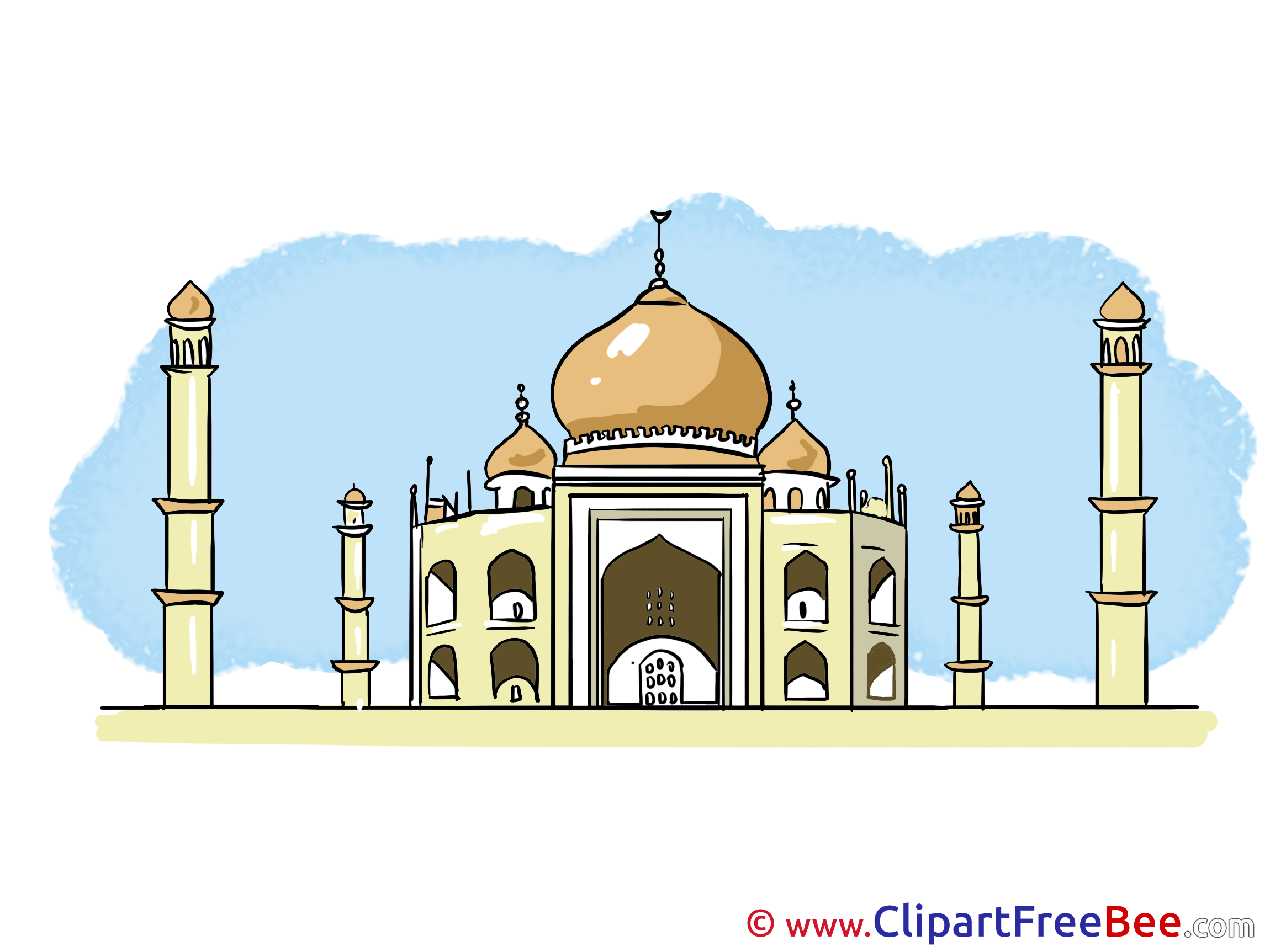 taj mahal india free cliparts for download Farm Animal Coloring Pages Preschool Clip Art Free Printable