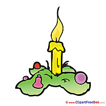 Advent Candle Illustration in high  Resolution