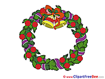 Wreath Clipart Advent Illustrations