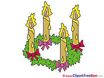Yellow Candles Clipart Advent free Images