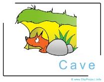 Fox Cave Clip Art Image free