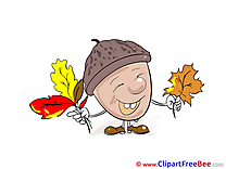 Acorn Leaves Clip Art download Autumn