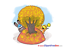 Animals Tree printable Autumn Images
