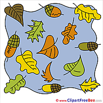 Autumn Acorns Clip Art for free