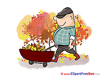 Cart Leaves Cliparts Autumn for free