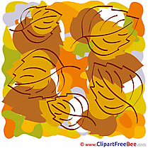 Clipart Leaves Autumn Illustrations