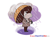 Dog Rain download Clipart Autumn Cliparts