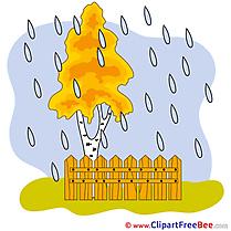 Fence Rain Pics Autumn free Cliparts