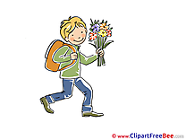 Flowers Boy Clipart Autumn Illustrations