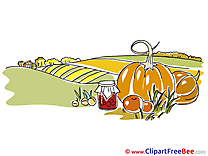 Harvest Field Clipart Autumn Illustrations