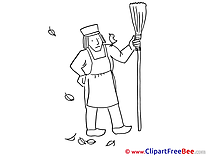 Janitor Broom Autumn free Images download