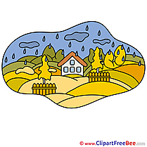 Little House Rain Cliparts Autumn for free