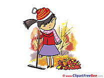 Rake Leaves Autumn Illustrations for free