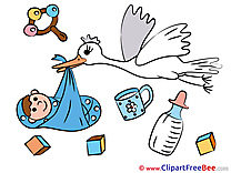 Baby Stork printable Images