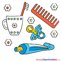 Dummy Pacifier Comb free Illustration Baby