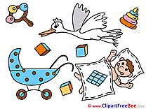 Kindergarten Baby download Illustration