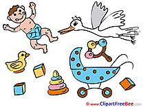 Stork Clipart Baby free Images