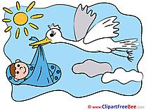 Stork download Baby Illustrations