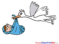 Stork free Cliparts Baby