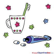 Toothpaste Pics Baby Illustration