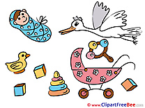 Toys Stork download Clipart Baby Cliparts